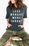 Less Monday Cut Off Sweatshirt