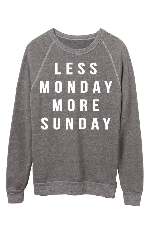 Less Monday Sweatshirt - Light Grey