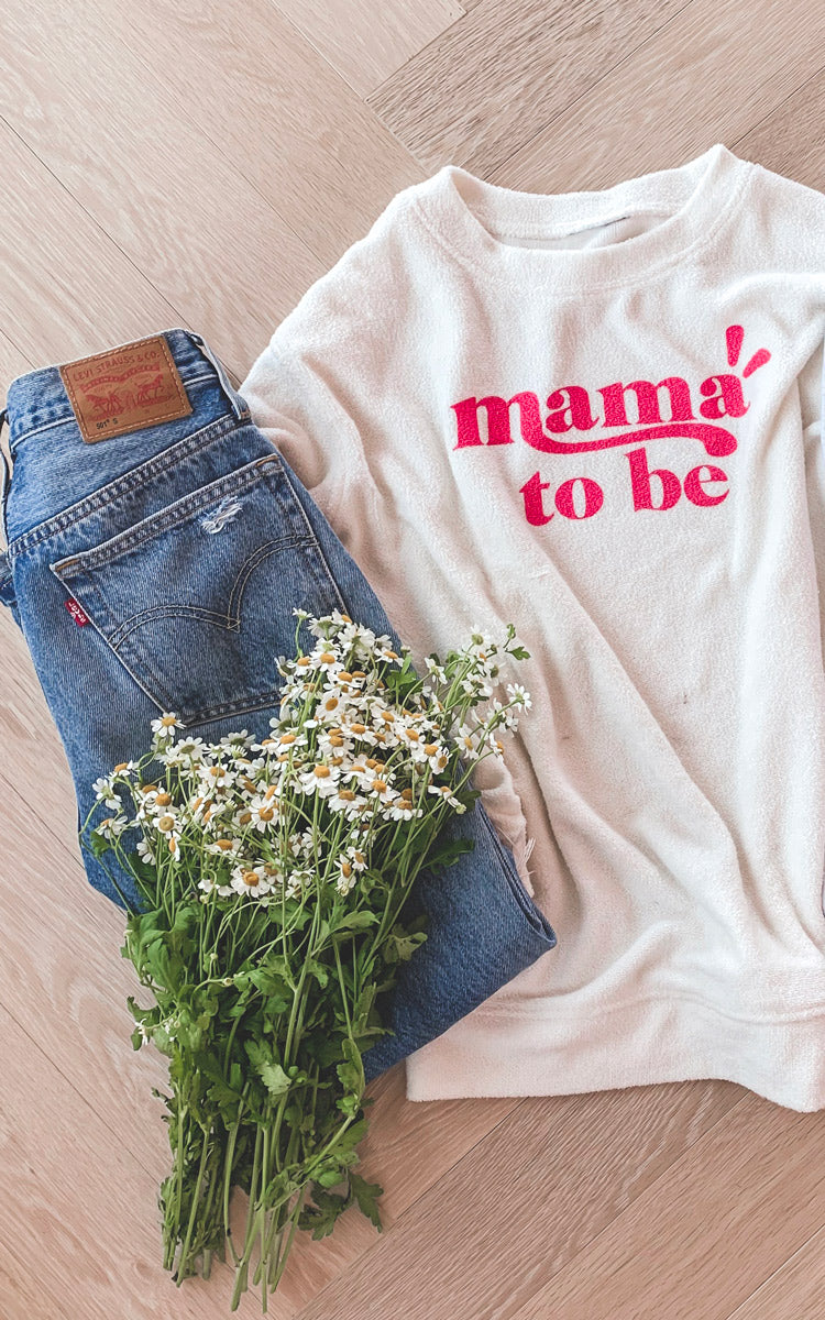 Mama To Be Terry Sweatshirt