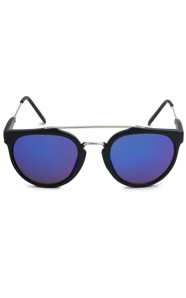 Anna Black Sunglasses - Blue Lenses