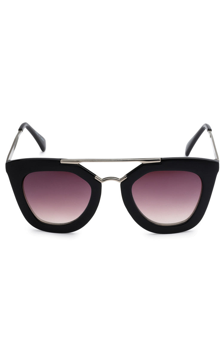 Jamie Black Sunglasses - Black Lenses