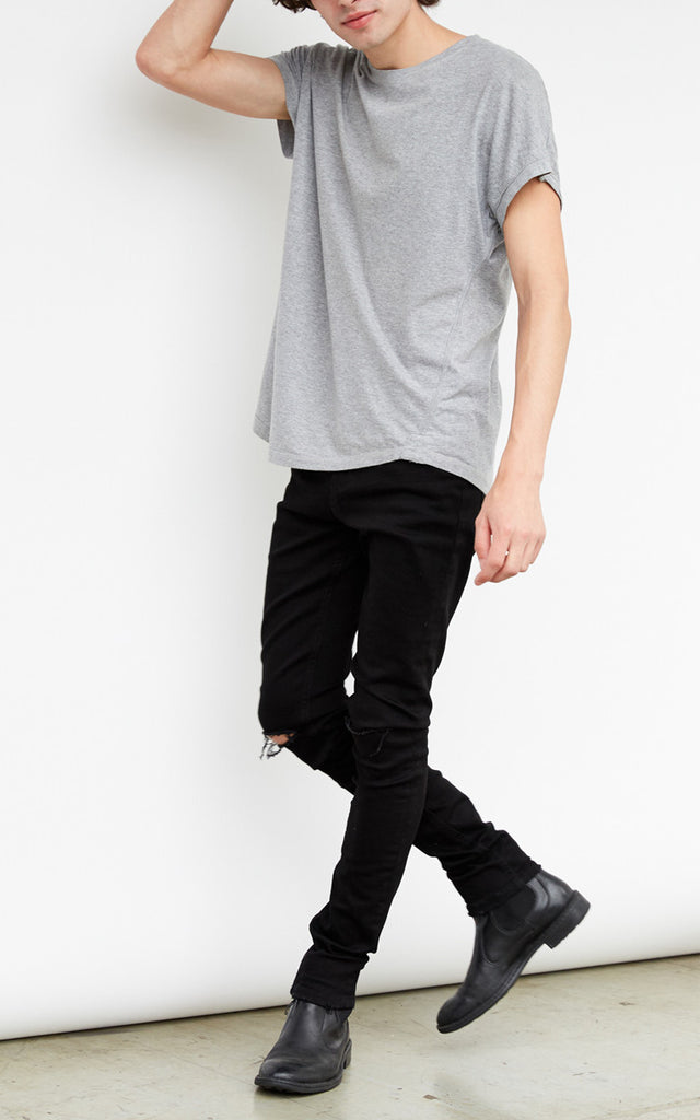 Men's Black Distressed Jeans