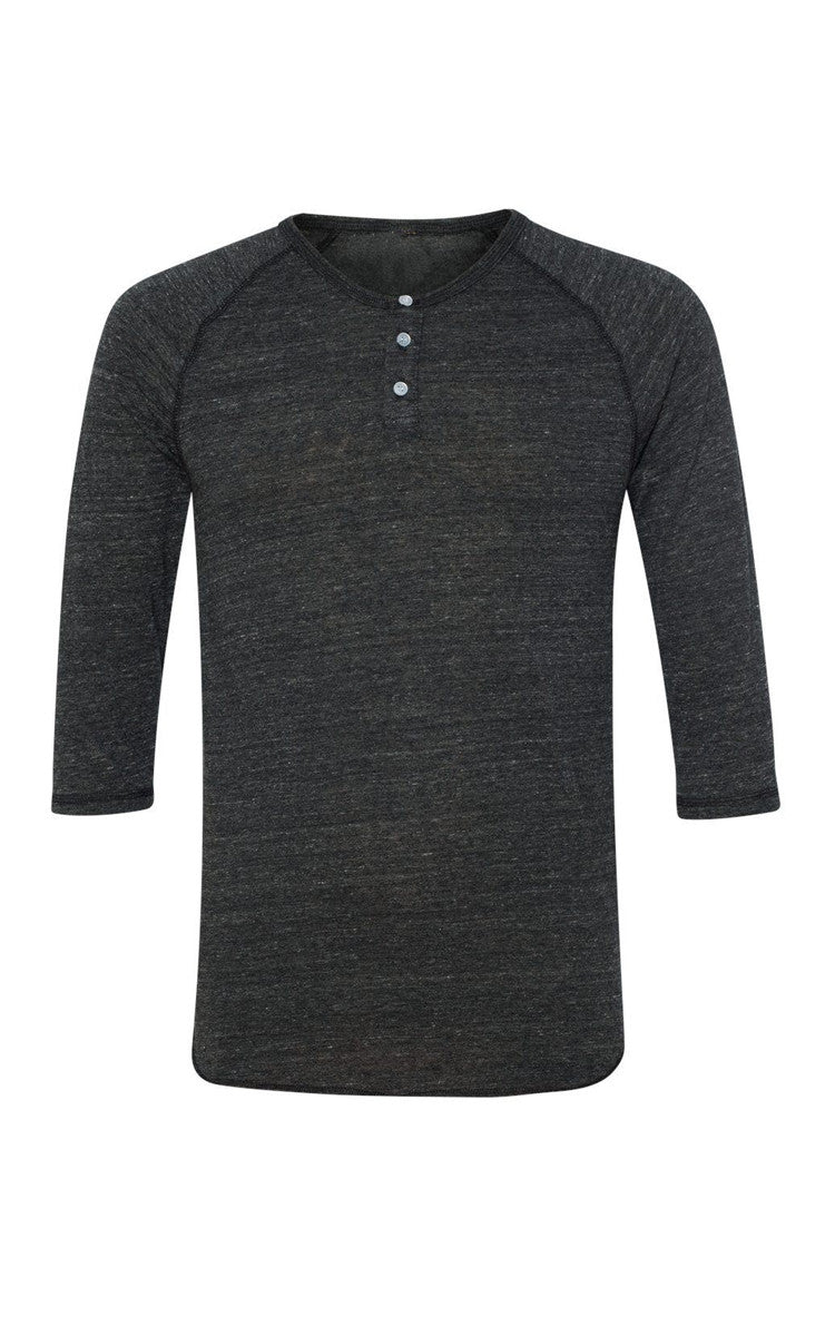 Unisex Heathered Grey Henley