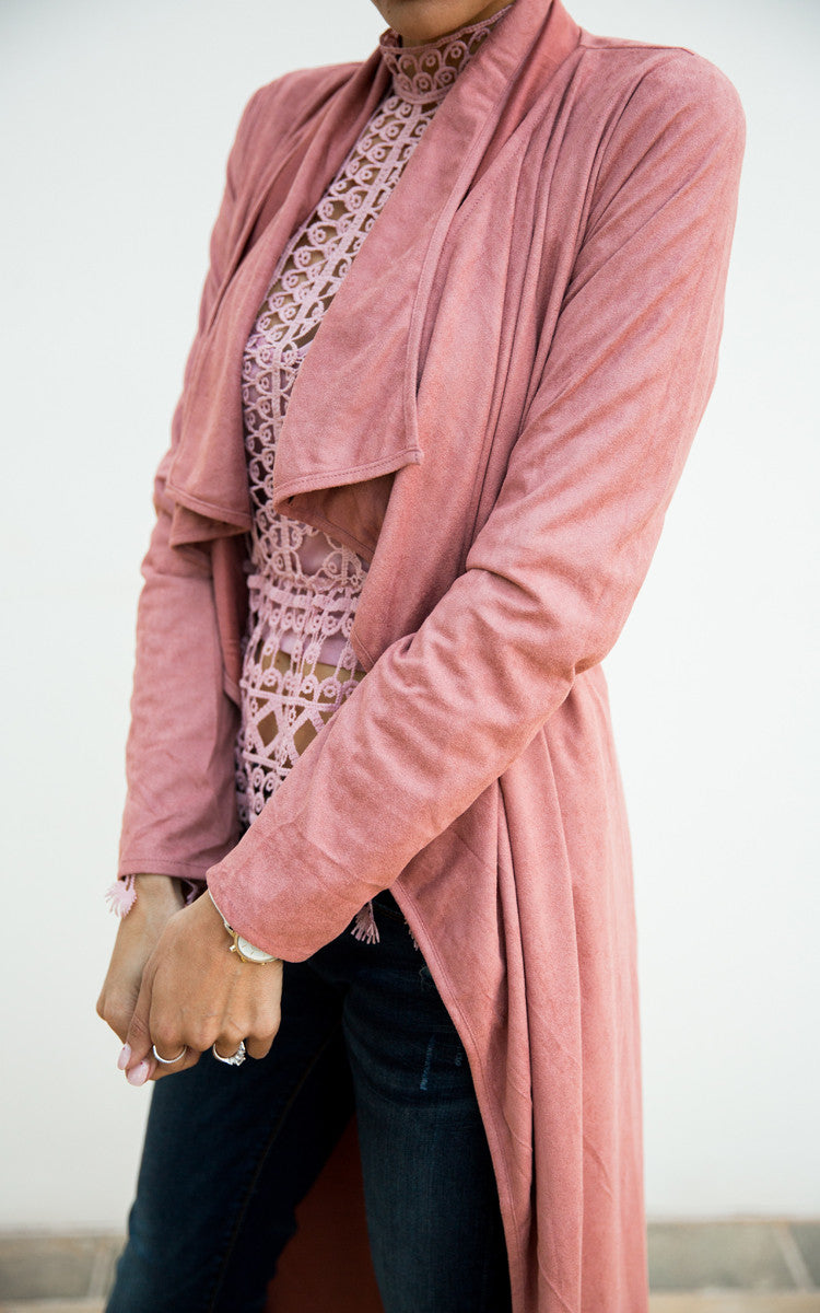 Blush Pink Duster Jacket