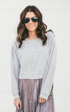 Cropped Round Neck Sweater