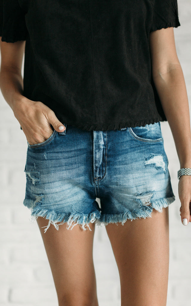 Distressed Denim Cut-Offs