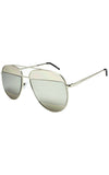 Silver Oversized Aviator Sunglasses