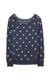 Star Wide Neck Sweatshirt