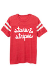 Stars and Stripes Boyfriend Tee