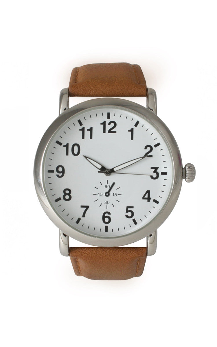 Classic Strap Watch - Tan