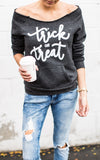 Trick or Treat Eco Black Sweatshirt