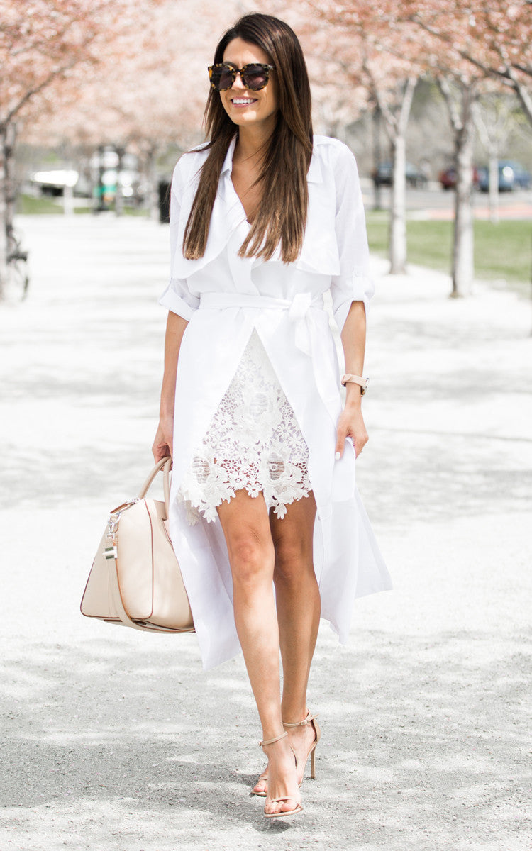 White Linen Trench