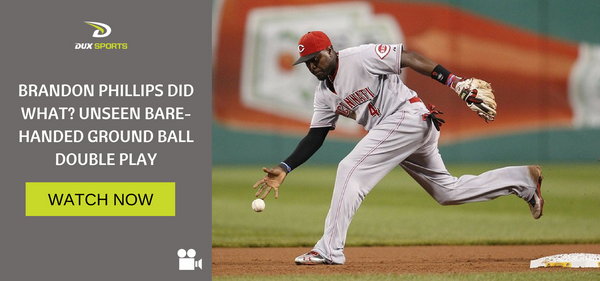 BRANDON PHILLIPS DID WHAT? UNSEEN BARE-HANDED GROUND BALL DOUBLE PLAY