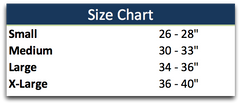 Compression Pants - Cancer Size Chart