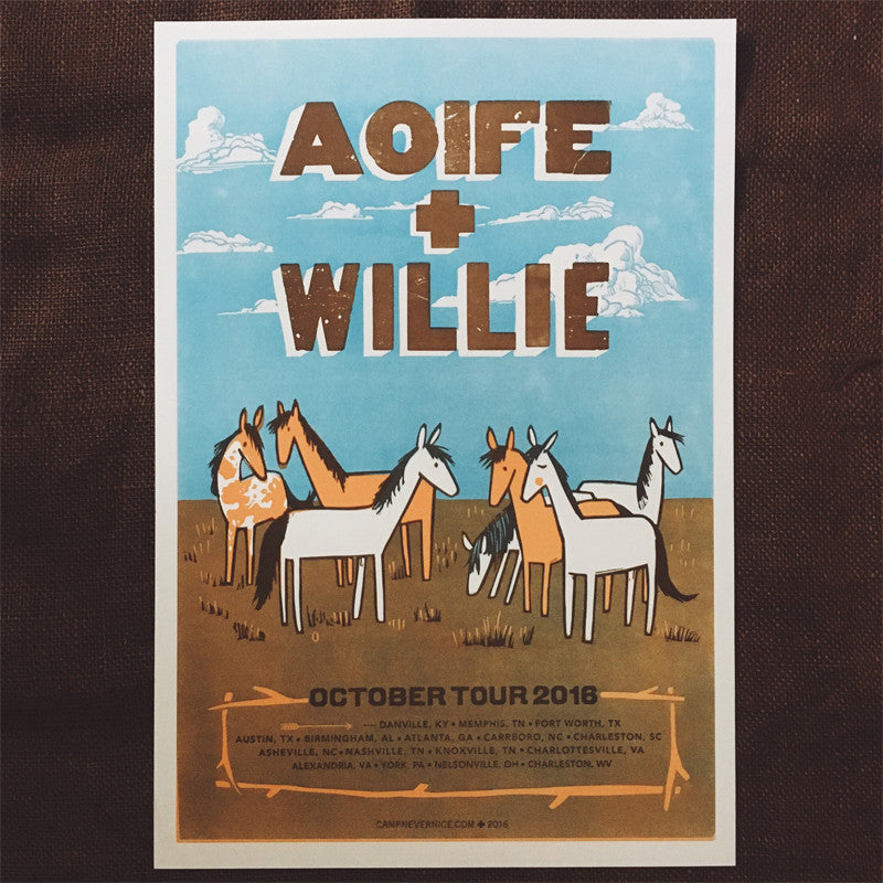 Willie & Aoife 2016 Fall Tour Poster