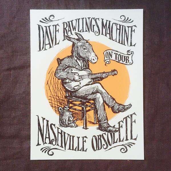Dave Rawlings Machine Nashville Obsolete Tour Poster