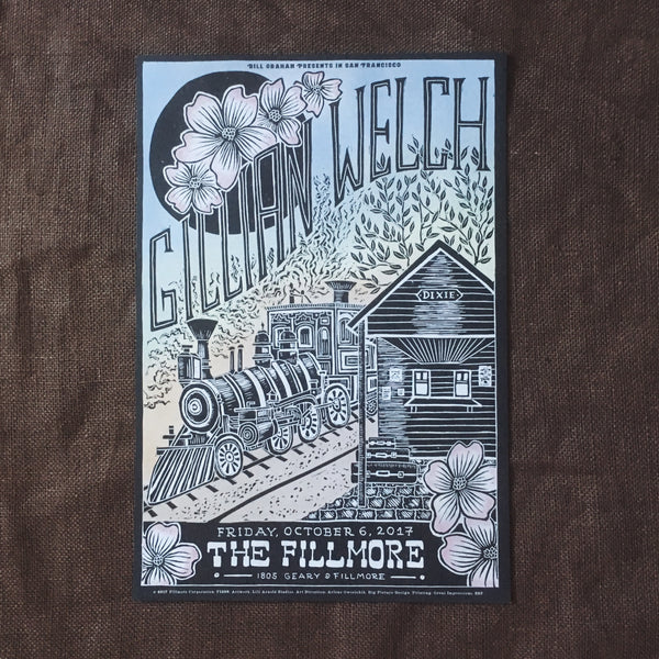 Gillian Welch 10/6/2017 Fillmore Show Poster