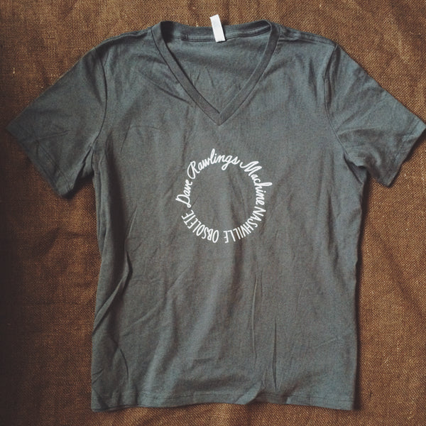Dark Grey Ladies DRM Circle V-Neck 2015