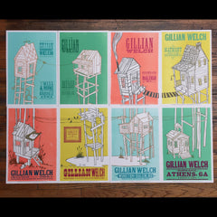 Gillian Welch August 2016 Letterpressed Poster Series