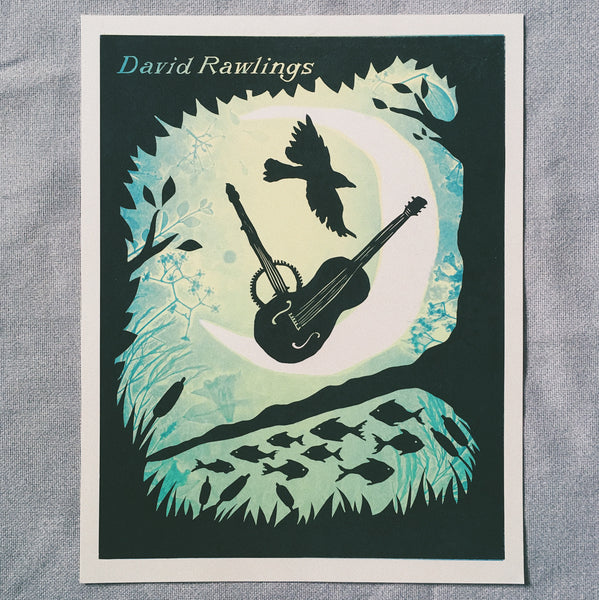 David Rawlings Almanack Letterpressed Art Print