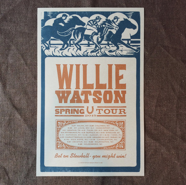 "Willie Watson 2015 Spring Tour ""Stewball"" Hatch Show Print"