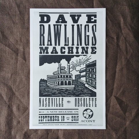 Dave Rawlings Machine's Nashville Obsolete Release Poster by Hatch