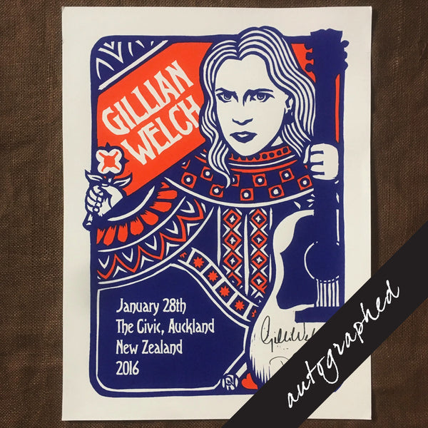 2016 New Zealand Tour Poster SIGNED