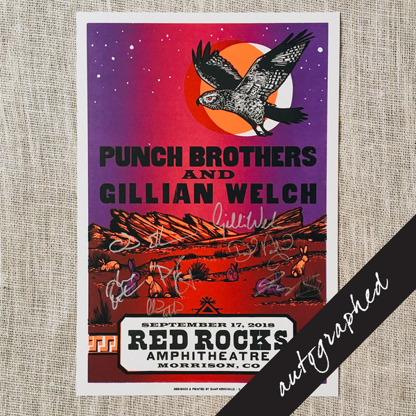2018 Red Rocks Show Poster SIGNED