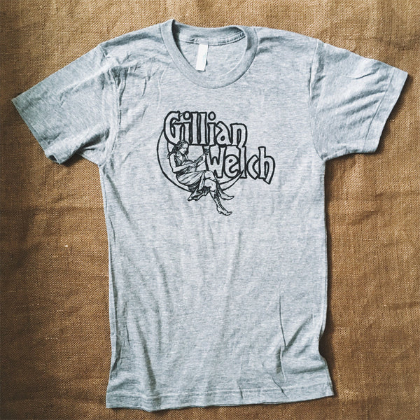 Gillian Welch Grey Moon Stencil T