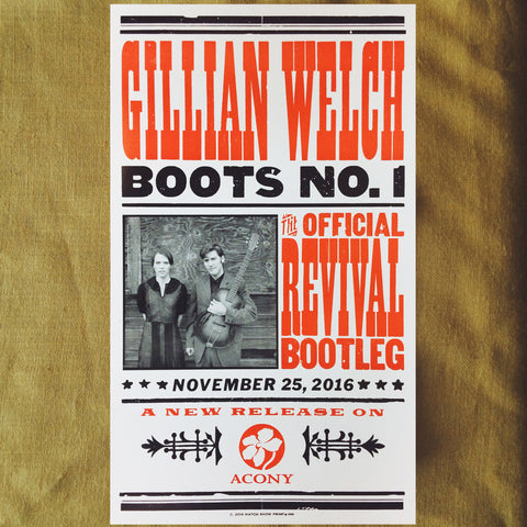 Gillian Welch Boots No. 1 Hatch Show Print