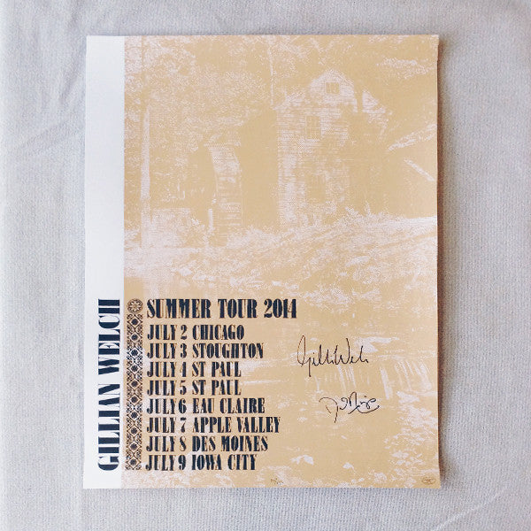 Gillian Welch Summer Tour 2014 Silkscreen SIGNED