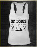 """St. Louis Gateway"" Women's Razorback Tank Top"