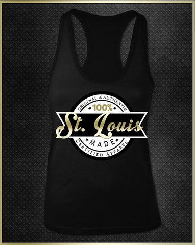 """St. Louis Logo"" Women's Razorback Tank Top"