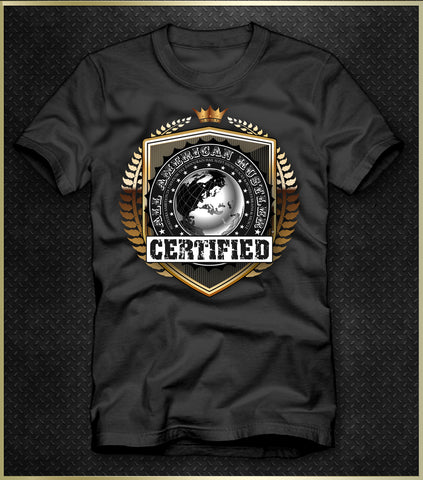 """Certified Emblem"" Men's T-Shirt"