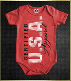 """Certified USA Apparel"" Baby Onesie"