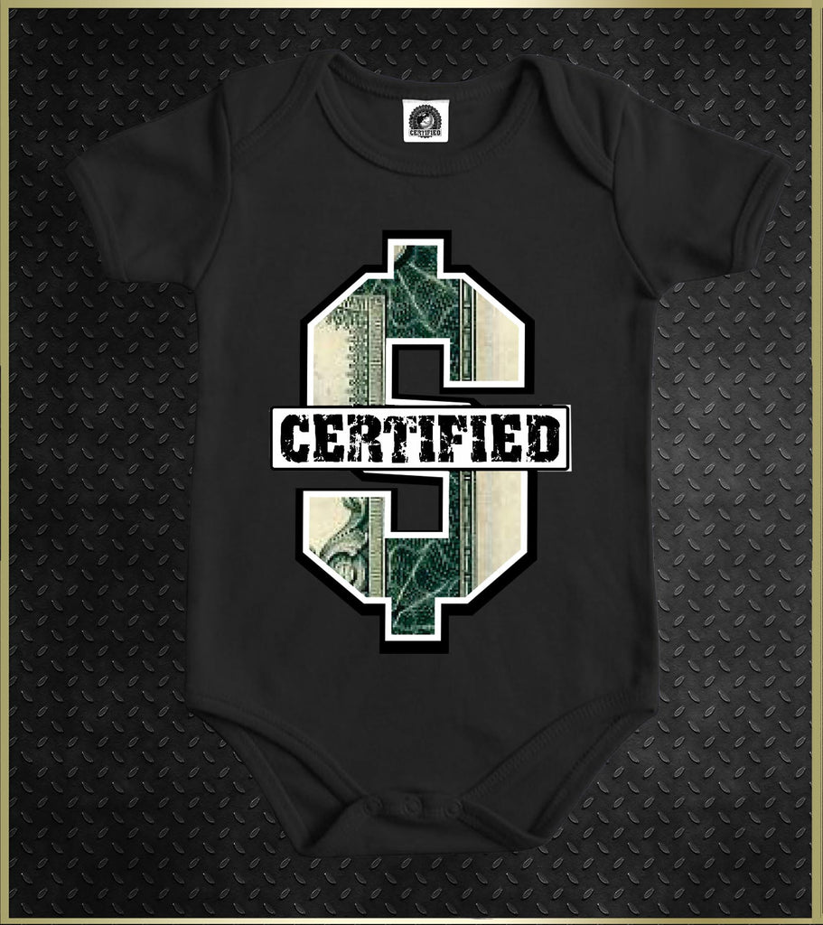 """Money"" Baby Onesie"