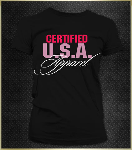 """Certified USA Apparel"" Women's T-Shirt"