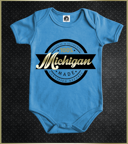 """Michigan"" Babies Onesie"