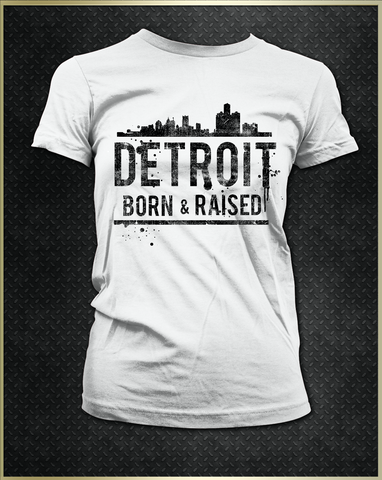 """Detroit Skyline"" Women's T-Shirt"