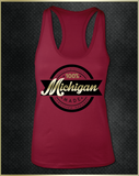 """Michigan"" Women's Razorback Tank Top"