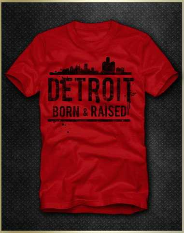 """Detroit Skyline"" Men's T-Shirt"