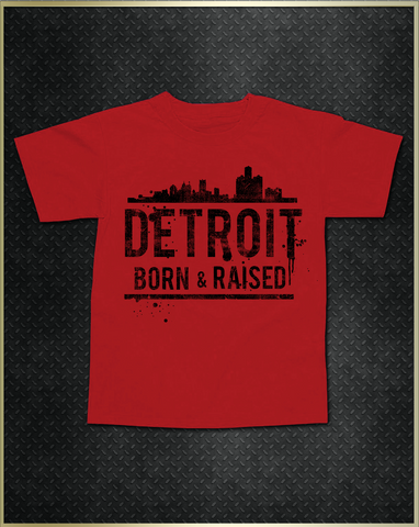 """Detroit Skyline"" Kids T-Shirt"