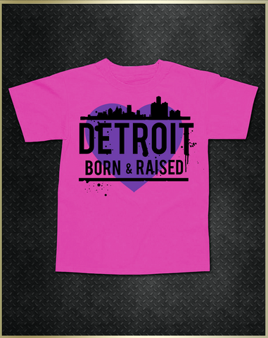 """Detroit Heart"" Girls Kids T-Shirt"