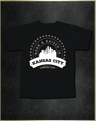 """Kansas City Born"" Kids T-Shirt"