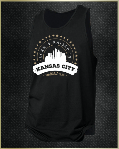 """Kansas City Born"" Men's Tank Top"