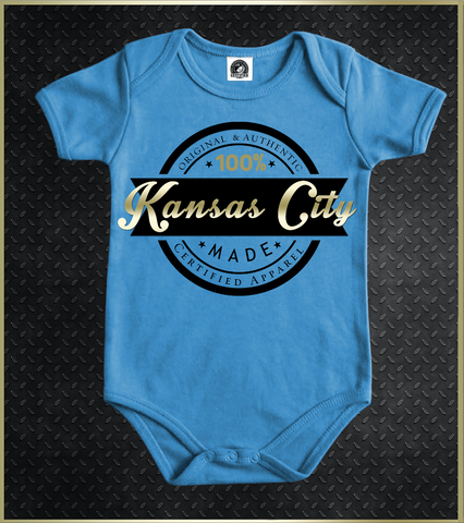 """Kansas City LOGO"" Baby Onezie"