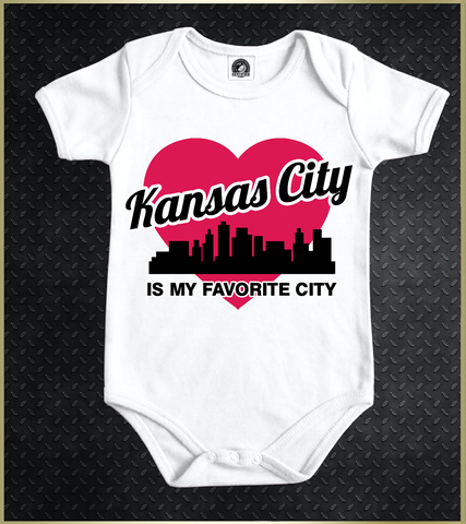"""Kansas City Heart"" Baby Onezie"