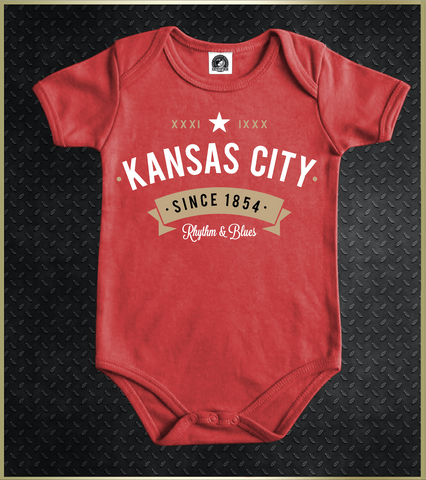 """Kansas City Rhythm"" Baby Onezies"