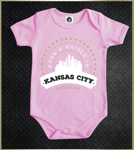 """Kansas City Born"" Baby Onezie"