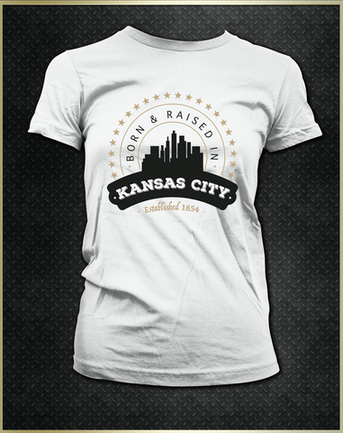 """Kansas City Born"" Women's T-Shirt"